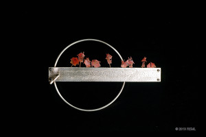 Midwest Earthquake Brooch