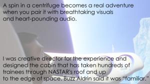 ETC/NASTAR Center's Sub-Orbital Space Flight Simulation for Virgin Galactic.