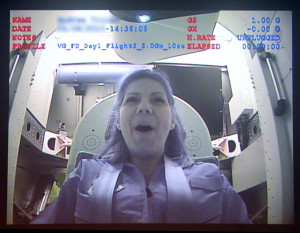 Trainees experience up to 6 Gs during re-entry.